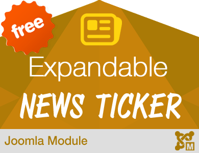 Expandable News Ticker Module for Joomla