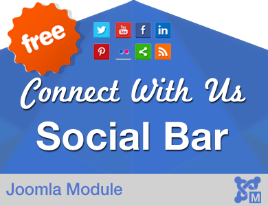 Connect with Us Social Bar