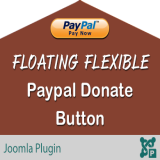 Floating Flexible Paypal Donate Button