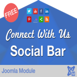 Connect Us Social Bar - Free