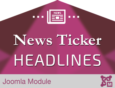 News Ticker Headlines Module for Joomla