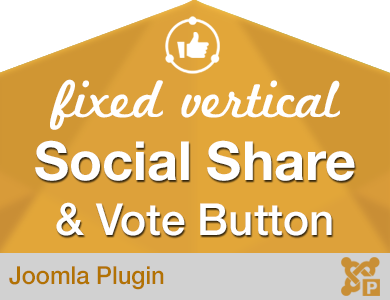 Fixed Vertical Social Share Vote Button