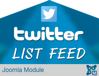 Twitter List Feed Module for Joomla