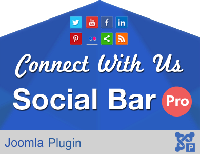 Connect with Us Social Bar Pro