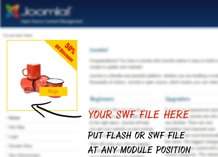 Joomla Module for Flash SWF Embedder