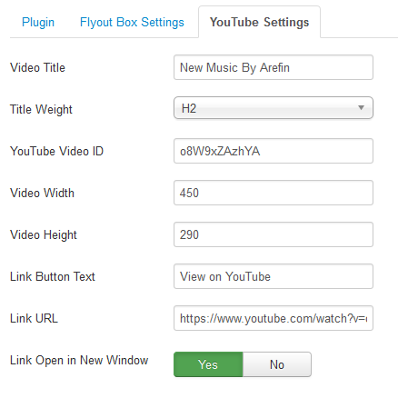 Video Flyout For Joomla