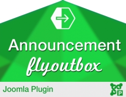 Announcement Flyout Plugin for Joomla