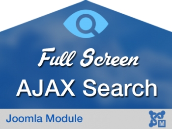 Fullscreen AJAX Search for Joomla