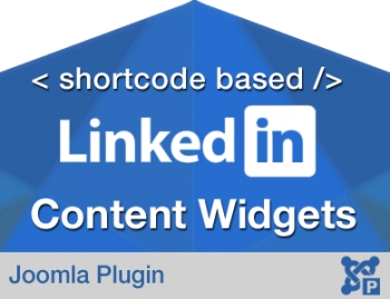 Shortcode Based Linkedin Content Widget