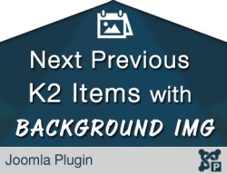 Next Previous Items with Background Image for K2