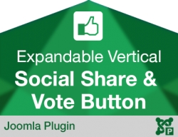Expandable Vertical Social Share and Vote Button