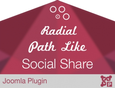 Radial Path Like Social Share