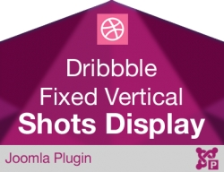 Dribbble Shots Display Fixed Vertical Button