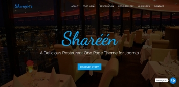 Shareen - A Delicious Restaurant One Page Theme for Joomla
