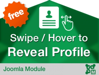Swipe to Reveal Profile for Joomla