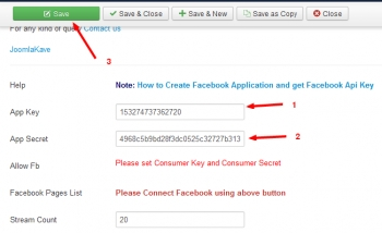 How to Put a Facebook Page Stream on Joomla Website?