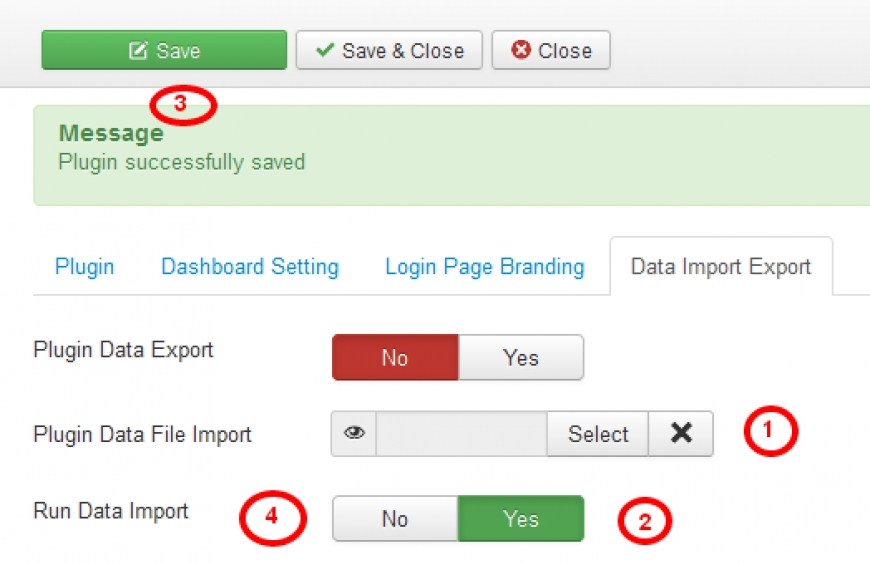 Admin Branding Settings Import