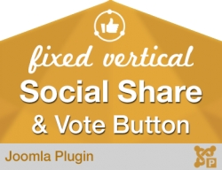 Fixed Vertical Social Share and Vote Button