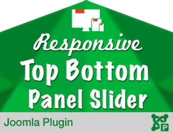 Responsive Top Bottom Panel Slider